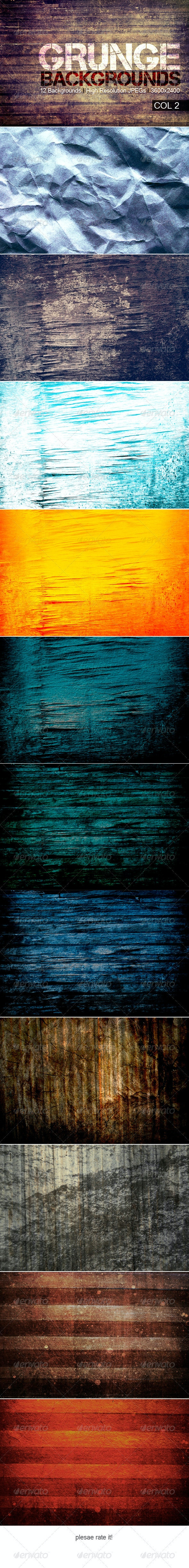 Grunge Backgrounds Col 2 - Backgrounds Graphics