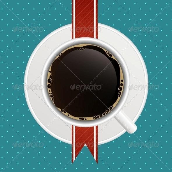 Concept of Coffee House Menu - Decorative Symbols Decorative