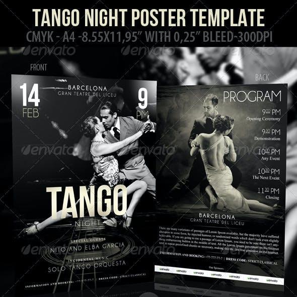 Tango Night Poster Template & Tango Night-Flyer Te
