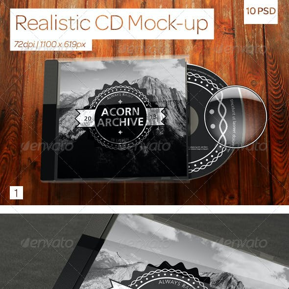 Realistic CD Mock-Ups