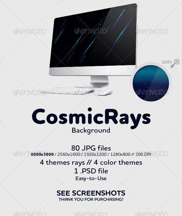 Cosmic Rays Background - Abstract Backgrounds