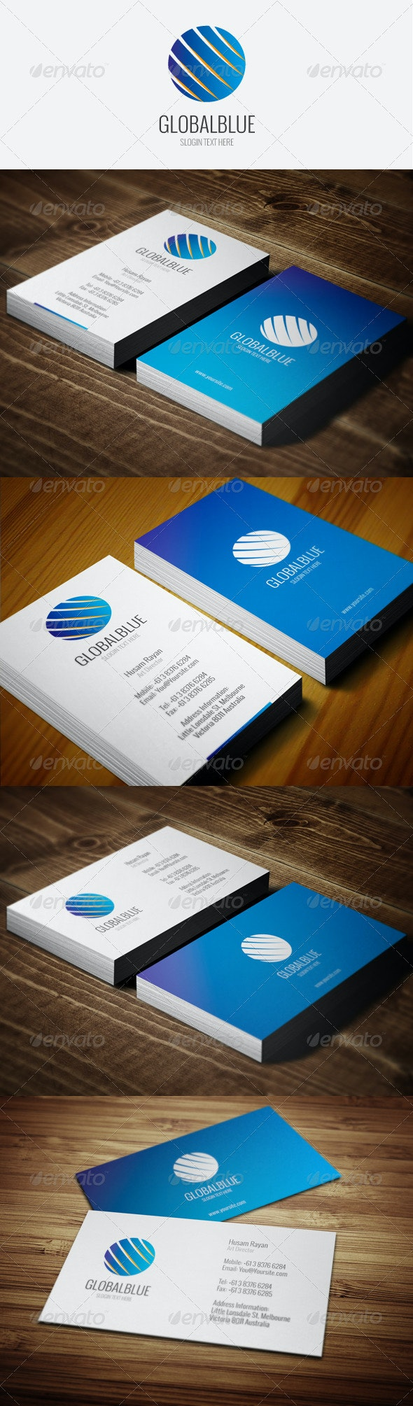 GlobalBlue Business Cards - Corporate Business Cards