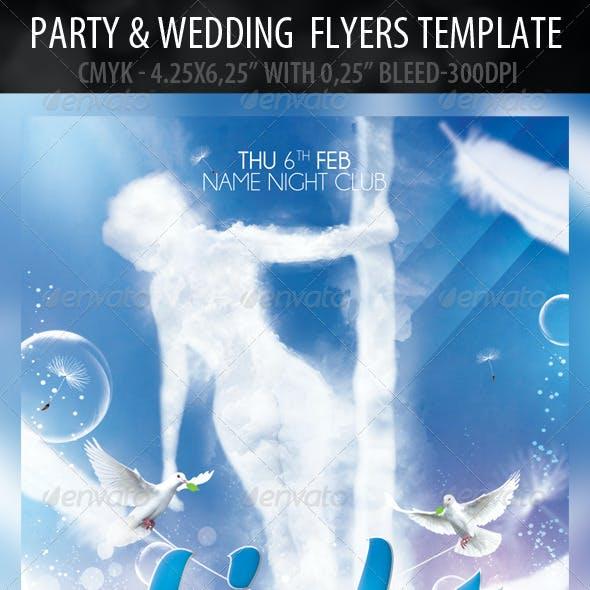Light Party & Wedding  Card Templates