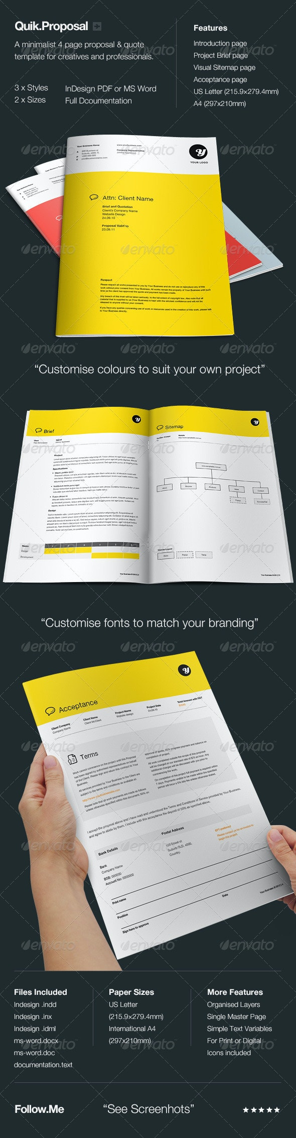 Quik.Proposal - Proposals & Invoices Stationery