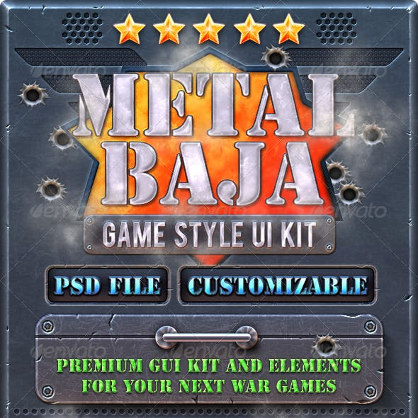 Metal Baja: Game GUI Kit
