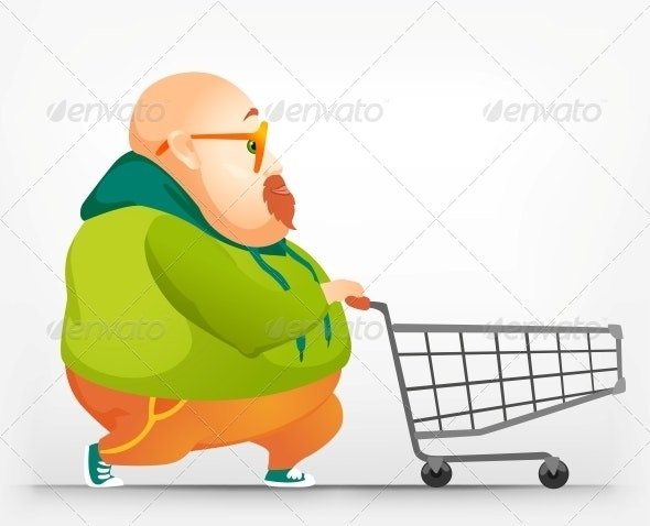 Cheerful Chubby Man - Miscellaneous Characters