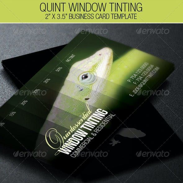 Window Tinting Business Card Template