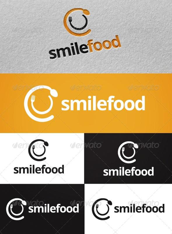Smile Food Logo Template - Food Logo Templates