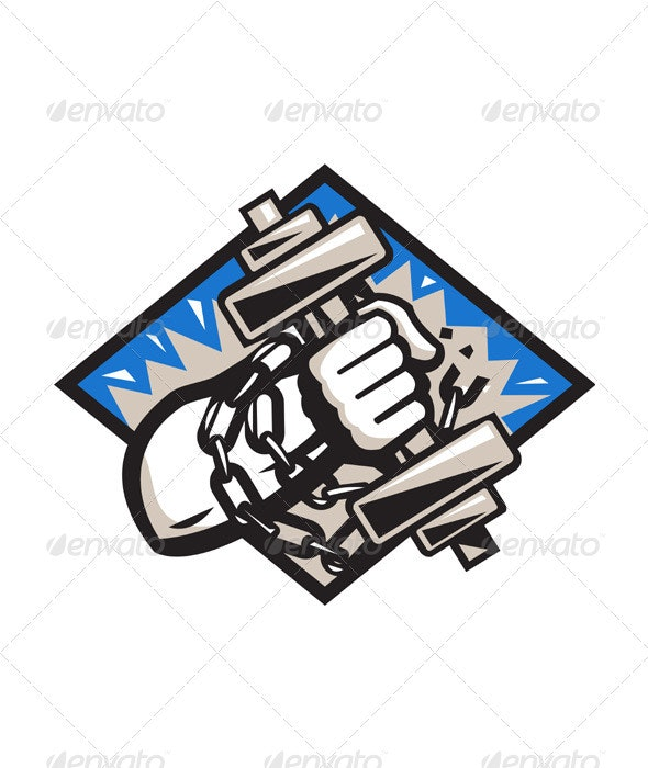 Hand Bursting With Dumbbell In Chains - Miscellaneous Characters