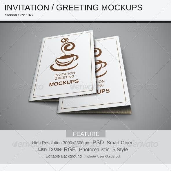 Invitation / Greeting Mockups
