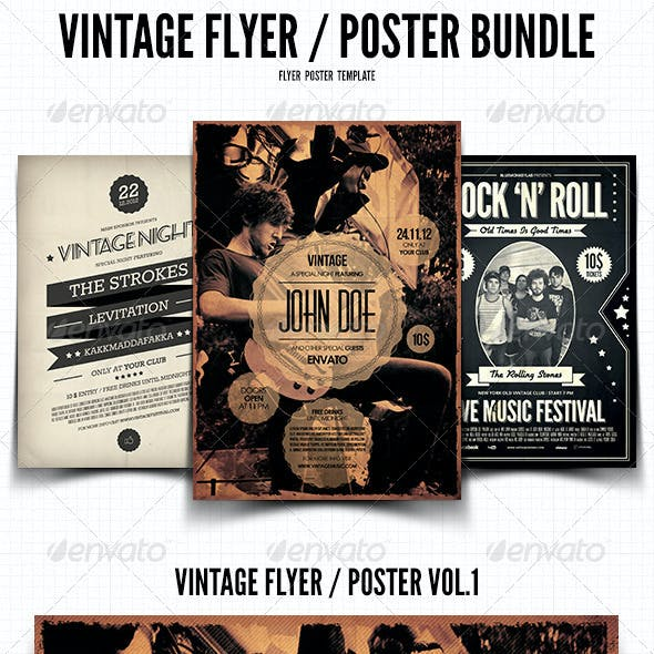 Vintage Flyer / Poster Bundle
