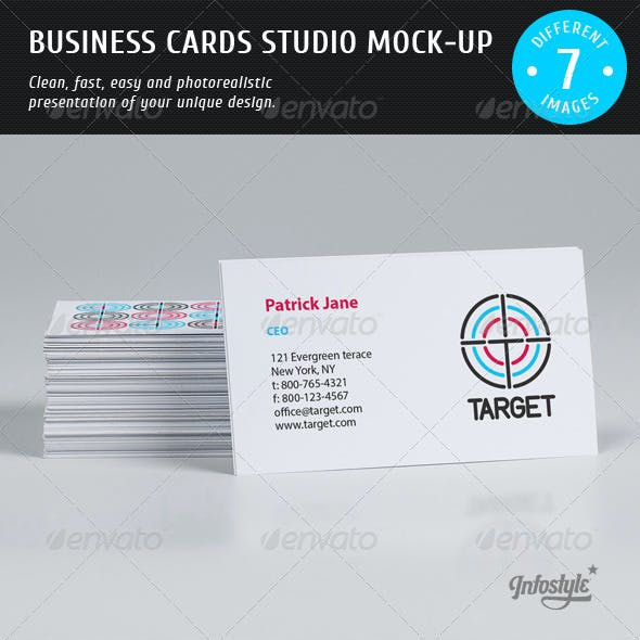 Business Cards Studio Mock-up