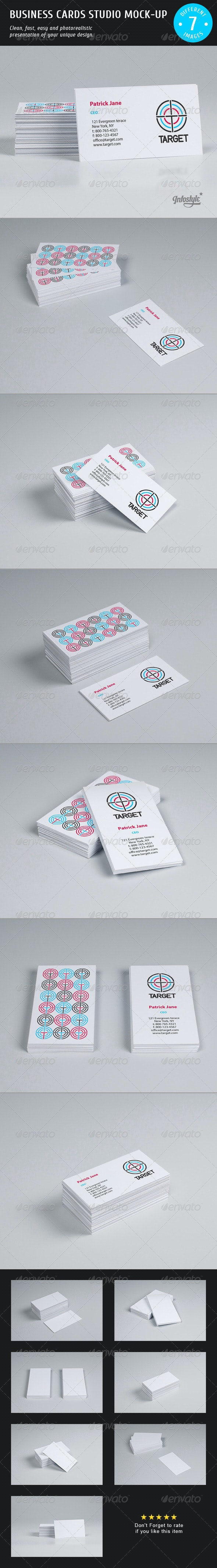 Business Cards Studio Mock-up - Business Cards Print