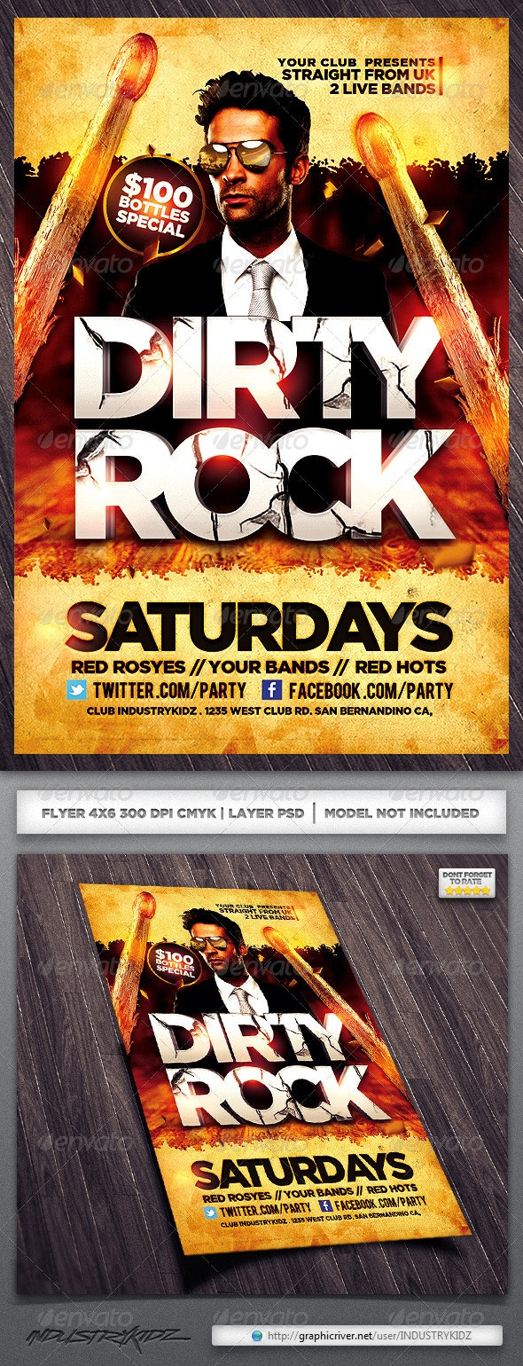 Band Flyer  - Clubs & Parties Events