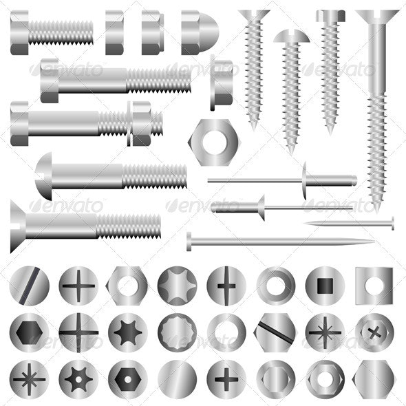 Nuts And Bolts - Man-made Objects Objects