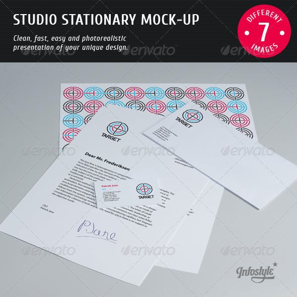 Studio Stationary Mock-up