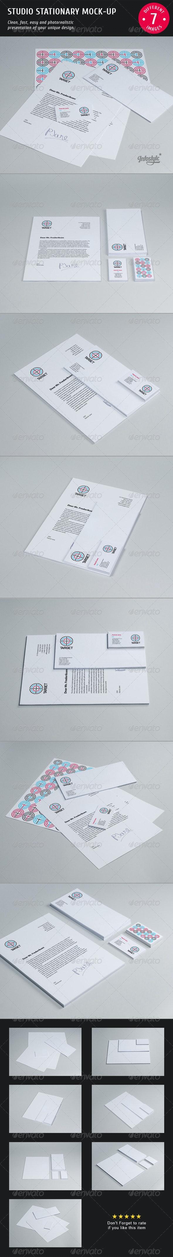 Studio Stationary Mock-up - Stationery Print