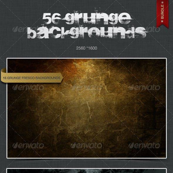 56 Grunge Backgrounds - Bundle Pack 1