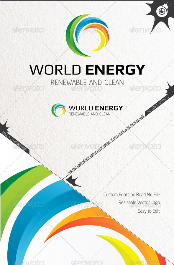 World Energy Logo - Vector Abstract