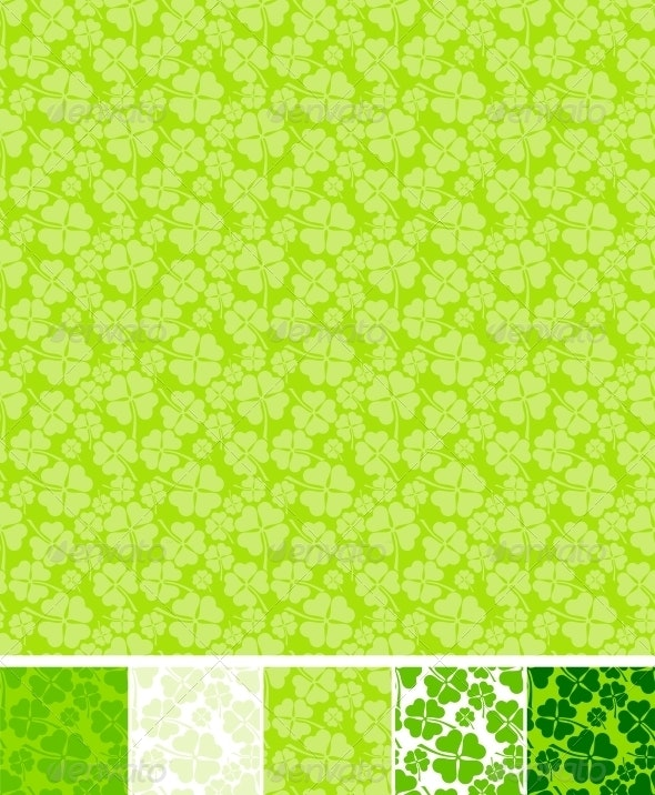 Collection of clover patterns. - Flowers & Plants Nature