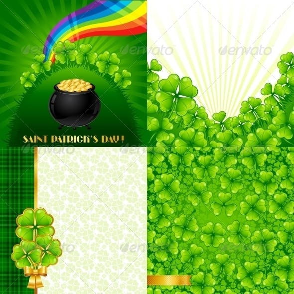 Greeting cards for Saint Patrick's day.