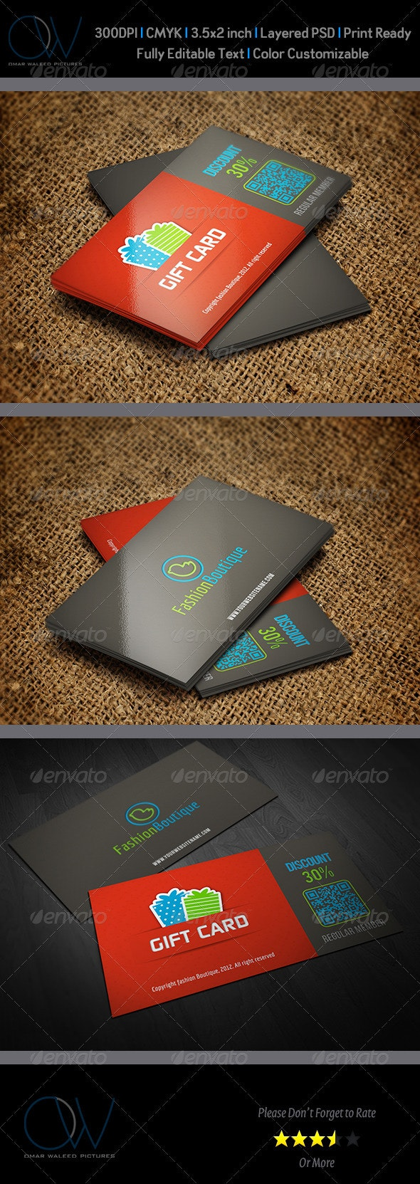 Gift / Voucher Card Vol.1 - Cards & Invites Print Templates