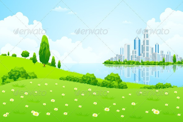 Business City on Island - Valentines Seasons/Holidays