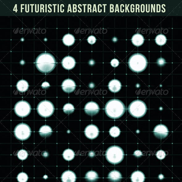 4 Futuristic Abstract Backgrounds