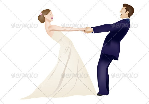 Dancing Married Couple - People Characters