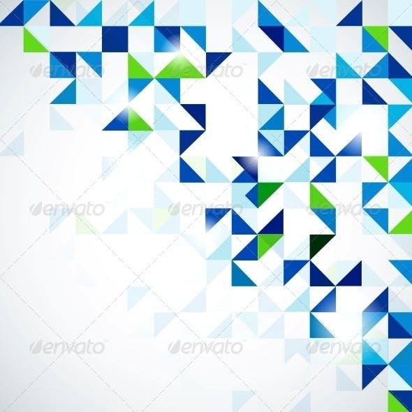 Blue green modern geometric design template