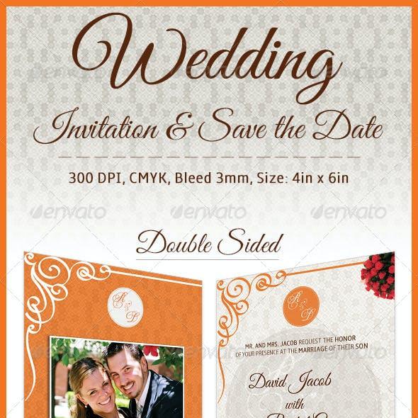 Wedding Invitation Card & Save the Date