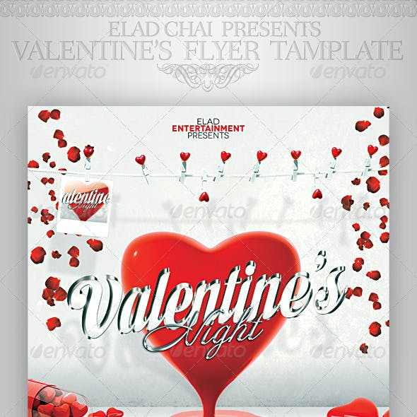 2014 Valentine's Day A4 Flyer Poster Template