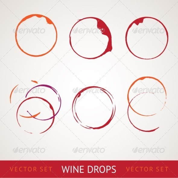 Red wine stain - Conceptual Vectors