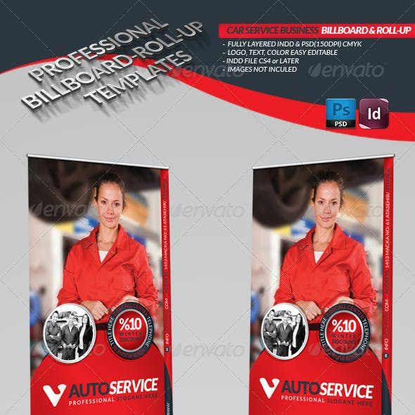Automobile Service Billboard & Roll-Up