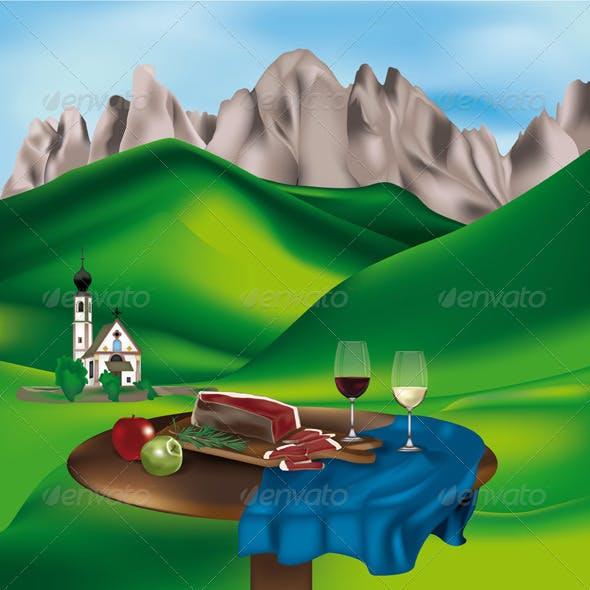 Dolomite Landscape-Italy