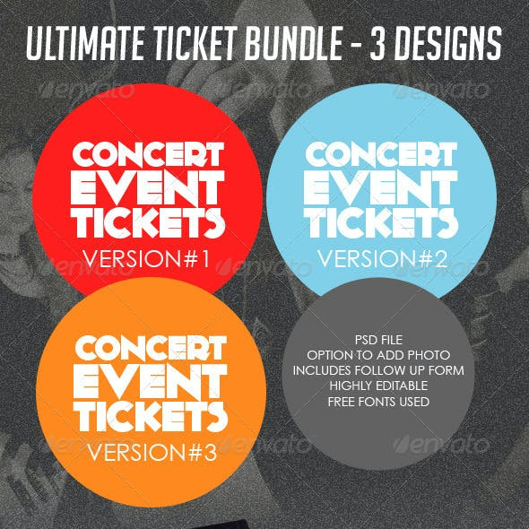 Concert & Event Tickets/Passes - BUNDLE (3in1)