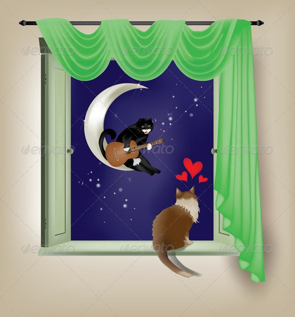 Feline Serenade - Animals Characters