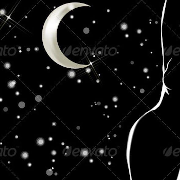Female Profile in the Night
