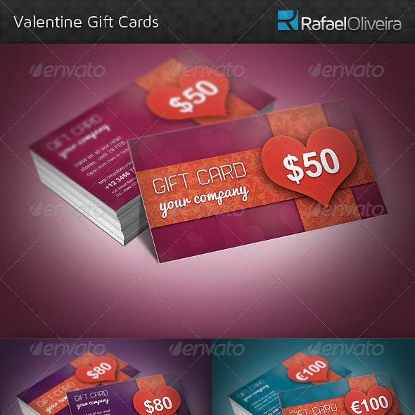 Valentine Gift Cards