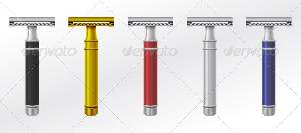 Classic Razor Set Vector - Man-made Objects Objects