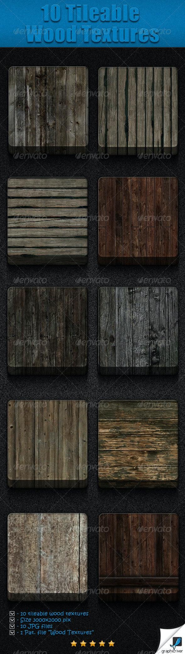 10 Tileable Wood Textures - Wood Textures