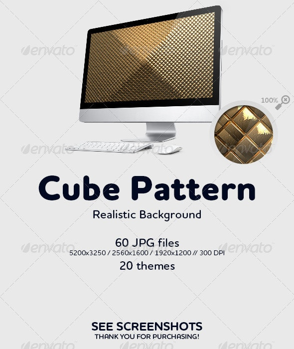 Cube Pattern Background - 3D Backgrounds