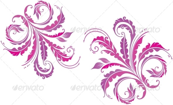 Decorative Floral Background - Flourishes / Swirls Decorative