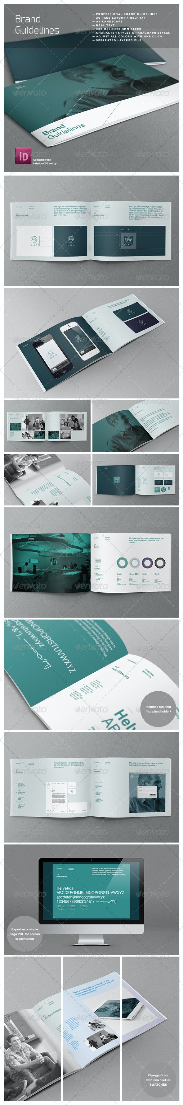 Brand Logo Guidelines Template - Corporate Brochures