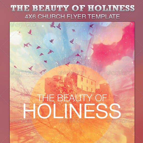 The Beauty of Holiness Church Flyer Template