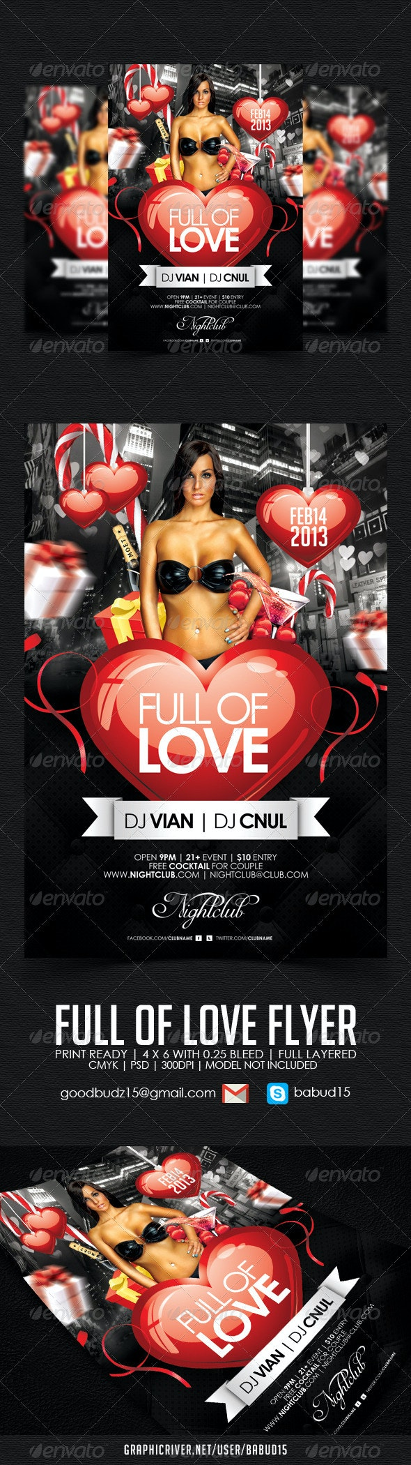 Full of Love Flyer Template - Events Flyers