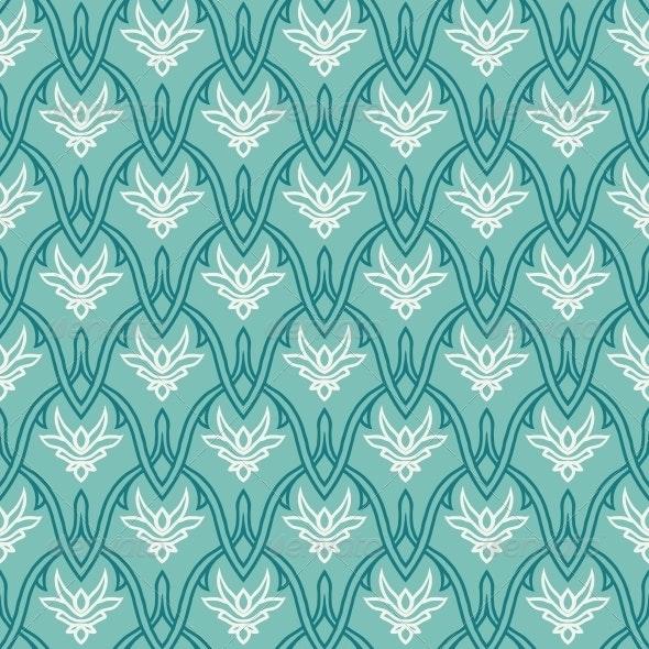Vintage Pattern with Damask Ornament, Seamless - Patterns Decorative