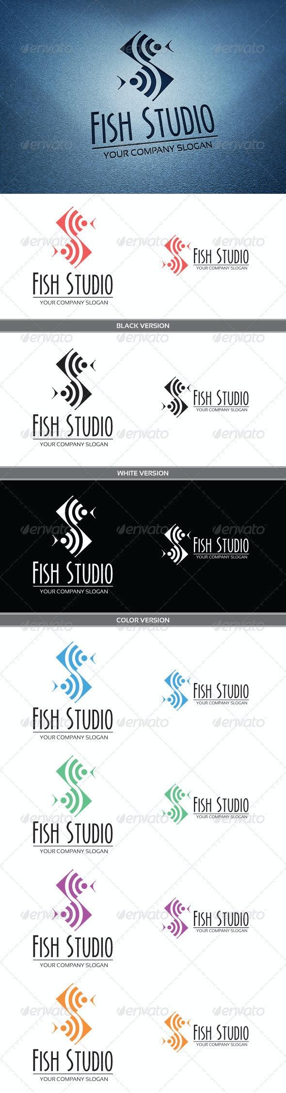Fish Studio Logo - Animals Logo Templates