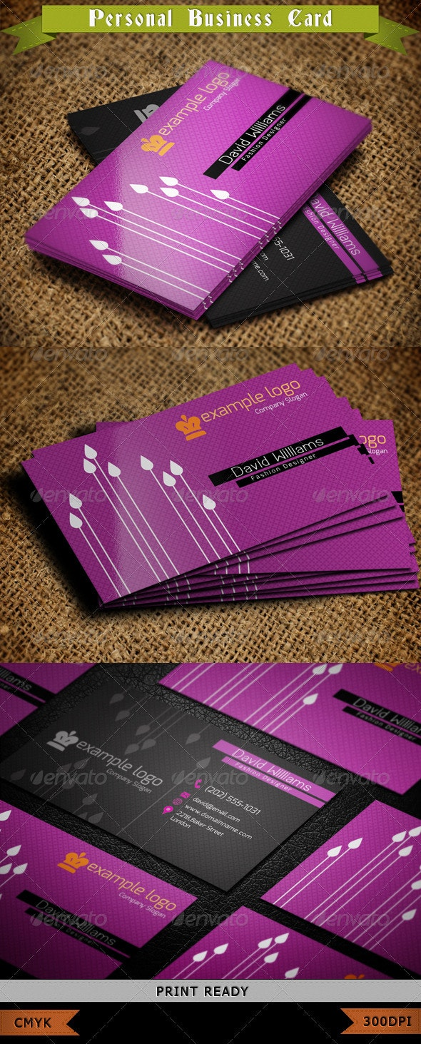 Fashion Business Card 02 - Industry Specific Business Cards