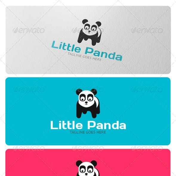 Little Panda Logo Template